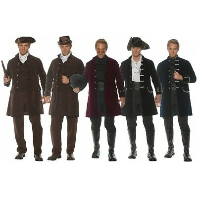 $37.62 • Buy Frock Coat Adult Pirate Colonial Victorian Steampunk Costume Jacket