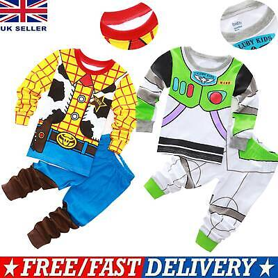 £9.09 • Buy Child Kids Boys Toy Story Buzz Lightyear And Woody Fancy Dress Suit Outfit Set