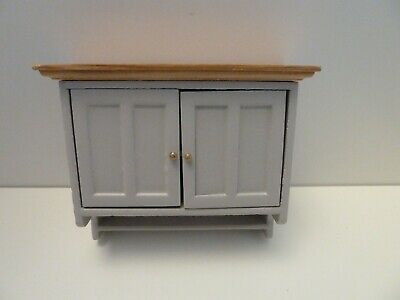 Dolls House Miniature 1:12th Scale Kitchen Furniture Grey Shaker Wall Cabinet • 11.91£