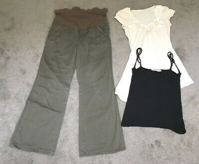 £8.60 • Buy Mamas And Papas Maternity Clothes Bundle - Cargo Trousers, Top, Breastvest (6/8)