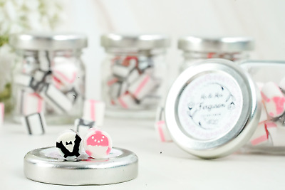 £15.99 • Buy Personalised Wedding Favour Sweet Jars Mr & Mrs Candy Party Favours Wedding Gift