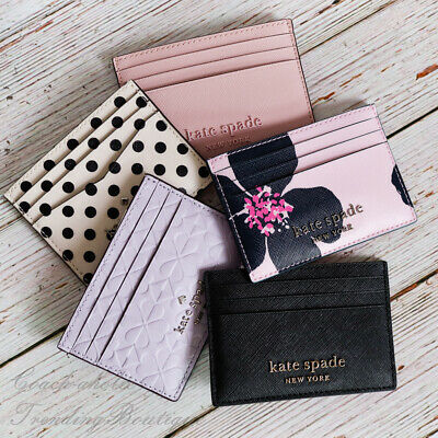 $ CDN46.07 • Buy NWT Kate Spade Cameron Small Slim Card Holder In Various Colors