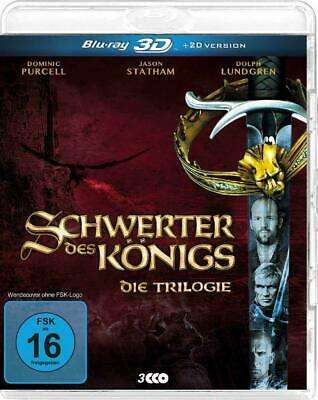 IN THE NAME OF THE KING TRILOGY 3D - X3 Blu Ray Discs - 3D & 2D - Jason Statham  • 13.99£