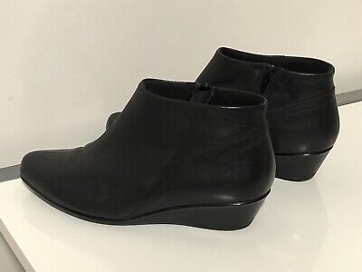 AU60 • Buy Ziera Black Leather Booties Short Boots Comfort Size 39 / 9