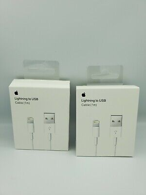 AU10.99 • Buy 2X Genuine Apple IPhone USB To Lightning Charger Cable 1m - AU Stock!