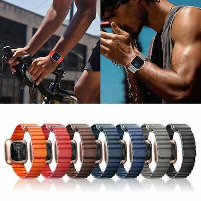 $ CDN14.37 • Buy Magnetic Loop Leather Smart Watch Band Wrist Strap Bracelet For Fitbit Versa