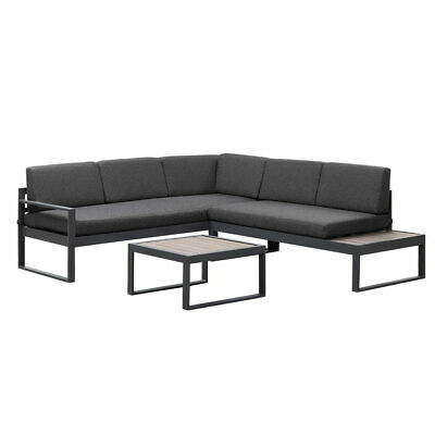 AU999.99 • Buy New Charcoal Aluminium Outdoor Garden Sofa Lounge Furniture Setting Table Chairs