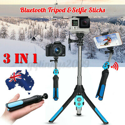 AU18.04 • Buy 2020 Universal 3in1 Selfie Stick Tripod Bluetooth Mobile Stand With Remote AU E