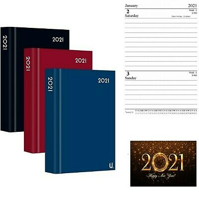£2.99 • Buy A6 2021 Page A Day Diary With Ribbon Maker Hardback Day Plan With Hourly Slots