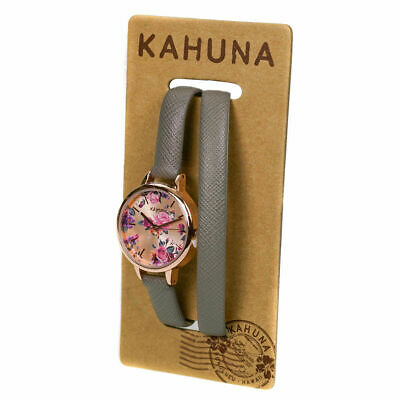 £7.99 • Buy Kahuna Ladies Watch KLS-0328L-1- Rose Gold & Floral Dial Grey Cross Over Strap