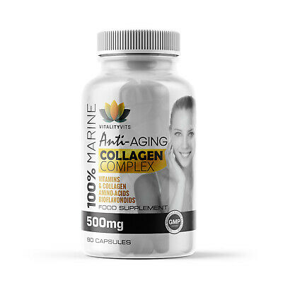 £8.99 • Buy Marine Collagen Complex  Anti - Ageing - Tissue Joints Vitamins B2 C & E Tablets