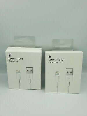 AU10.99 • Buy Genuine 2X USB Data Charging Cable Charger For Apple IPhone 8 7 6 X 11 Pro