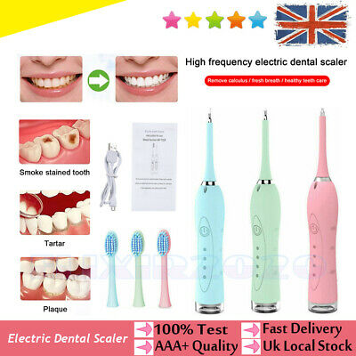 £11.99 • Buy Electric Sonic Dental Scaler Plaque Tartar Calculus Remover Tooth Stain Tool Kit