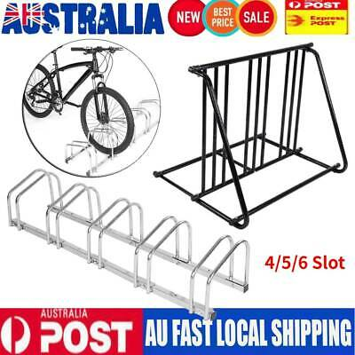 AU76.84 • Buy 4/5/6 Bike Floor Parking Rack Storage Stand Bicycle Steel/Iron Instant Bike AU