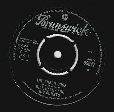 BILL HALEY AND HIS COMETS The Green Door Vinyl Record 7 Inch Brunswick 1964 Rock • 14.99£