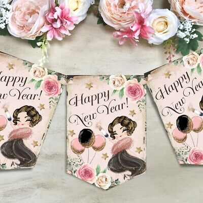 New Years Eve Bunting Garland 2021 Party Decor 1920's Banner NYE Decoration • 5.99£