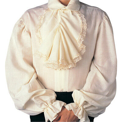 $29.95 • Buy COLONIAL CAVALIER Adult Men's Small (34-36) SHIRT Rubie's Costumes Ivory