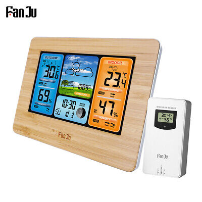$12.06 • Buy Digital LCD Indoor/Outdoor Weather Station Clock Calendar Thermometer Wireless