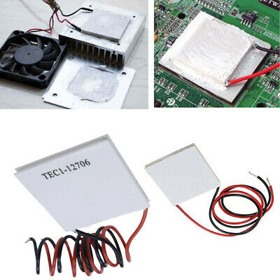£2.15 • Buy TEC1-12706 12V 5A 60W Heatsink Thermoelectric Cooler Cooling Peltier Plate RE490