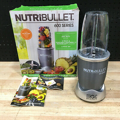 AU69.95 • Buy Nutribullet 600 Series 600w Bullet Blender - Grey - Excellent Condition