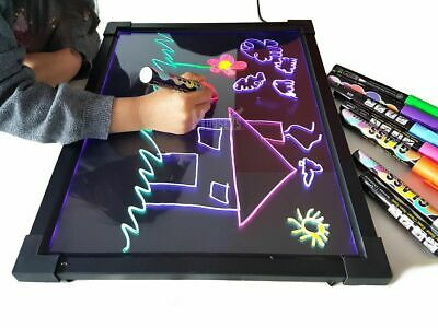 Sensory LED Drawing Board Kid's Writing Toy Autism ADHD Light Up Christmas Gift  • 22.99£