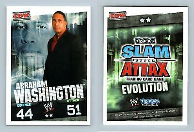 Abraham Washington - WWE Slam Attax Evolution 2009 Topps TCG Card • 0.99£