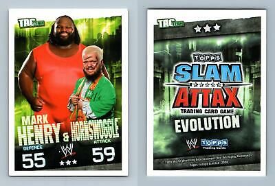 Mark Henry & Hornswoggle - WWE Slam Attax Evolution 2009 Topps TCG Card • 0.99£