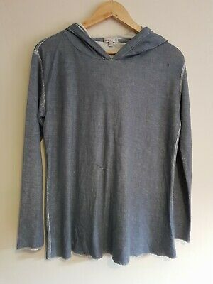 Gap Maternity Size S Long Sleeve Hooded Jumper Sweater Top - Blue • 4.50£