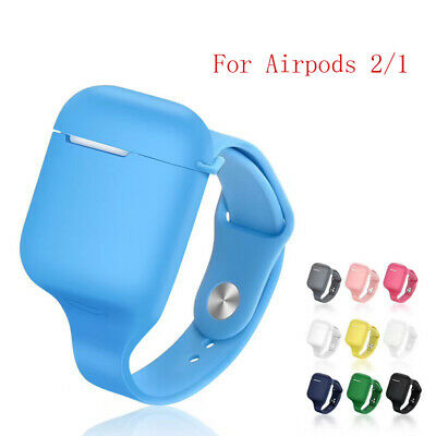 $ CDN5.54 • Buy Silicone Wrist Band For Airpods Case Sport Strap Earphone Cover For Airpods 1/2