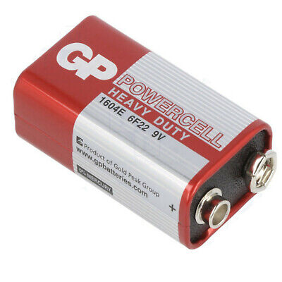 1 X GP POWERCELL EXTRA HEAVY DUTY 9V PP3 BATTERY GP 1604E-S1 6F22, 6LR61  • 2.05£