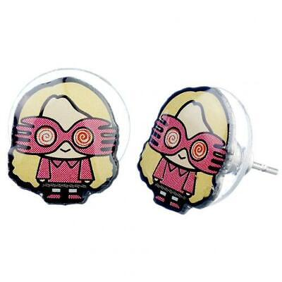 Official Harry Potter Silver Plated Earrings Chibi Luna Lovegood NEW UK • 6.99£