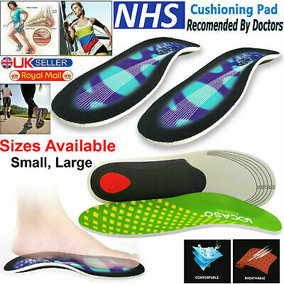 £2.49 • Buy 3D Orthotic Flat Feet Foot High Arch Gel Heel Support Shoe Inserts Insoles Pads