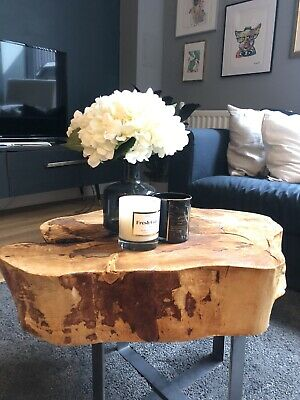 £190 • Buy WOOD COFFEE TABLE * Tree Side Table * Wooden Rustic Coffee Table.