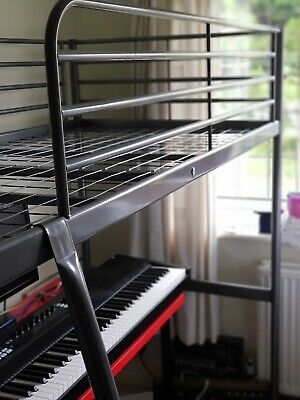 £69 • Buy 50% OFF IKEA Silver Bunk Bed Frame With Ladder. Hardly Used L207 X D96 X H175