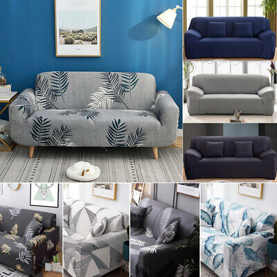 AU24.99 • Buy Sofa Covers 1/2/3/4 Seater Stretch Lounge Slipcover Protector Couch Washable AU