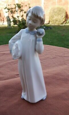 Nao By Lladro   Boy With Clock    #0596 • 20.25£