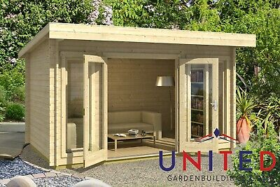 £2983 • Buy 14x8 Catherine Garden Office Summer House Log Cabin With Available Insulated