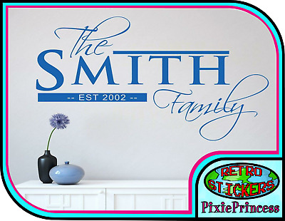 £7 • Buy Family Established Personalised Wall Art Vinyl Sticker Custom Name Unique Decal