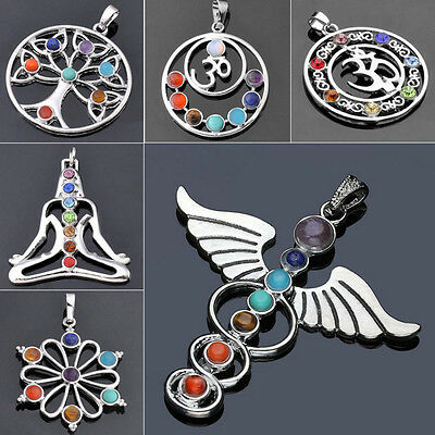 AU1.84 • Buy 7 Chakra Beads Pendant For Necklace Women Yoga Reiki Healing Balancing Jewelry