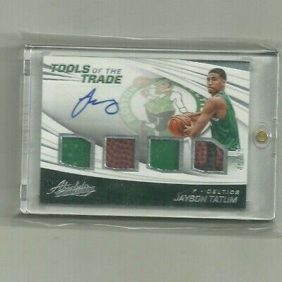 AU464.96 • Buy 2017-18 Absolute Tools Of The Trade Jayson Tatum RC Rookie Auto Patch #45/99