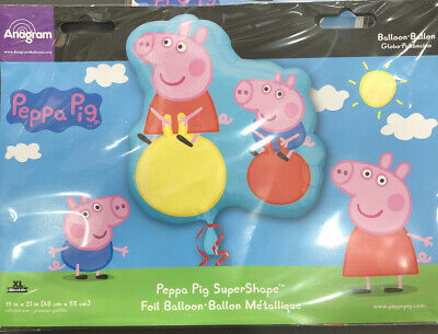 Licensed Peppa Pig, George & Friends Foil Helium Balloons Party Ware Decoration • 6.99£