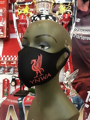 LIVERPOOL YNWA FACE MASK  Reusable Washable  One Size Fits All Free Postage • 5.99£