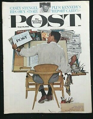 $ CDN36.87 • Buy SATURDAY EVENING POST - Sep 16 1961 - NORMAN ROCKWELL Cover / Casey Stengel
