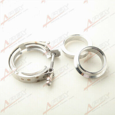 $ CDN23.46 • Buy 2  SS V-Band Turbo Exhaust Quick Release Clamp + Mild Steel Male/Female Flanges