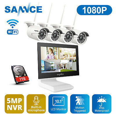 AU379.90 • Buy SANNCE 1080P Wireless Security Camera System Outdoor WIFI Home CCTV Surveillance