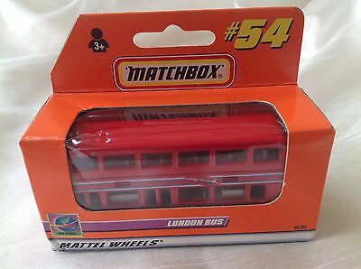 Matchbox New Toy Model #54 London Bus Red With Plane Aircraft Tampo Boxed • 9.99£