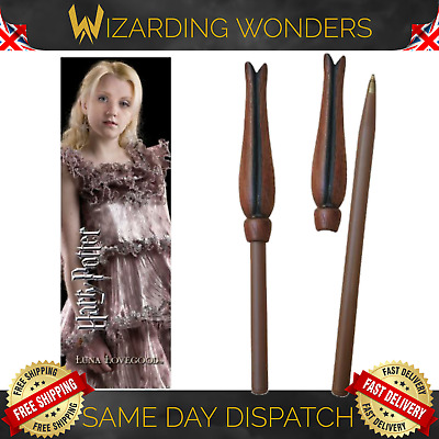 Harry Potter Luna Lovegood Wand Pen & Bookmark Noble Collection Official Gift UK • 8.49£