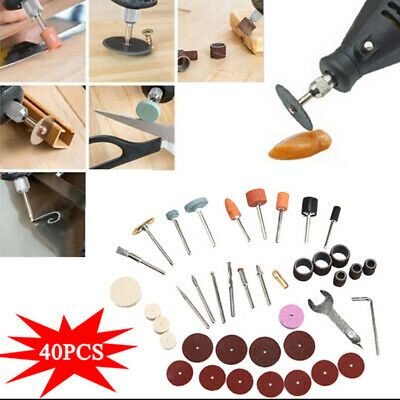 £5.73 • Buy 40 Pcs Hobby Craft Mini Drill Grinder Multi Rotary Tool Set Modeling Electric