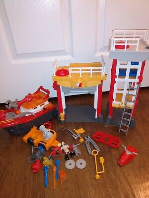 Imaginext Fire House Station Fireboat Figures Accessories Lot • 36.17£