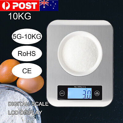 AU11.99 • Buy 10kg/1g  Kitchen Digital Scale LCD Electronic Balance Food Weight Postal Scales